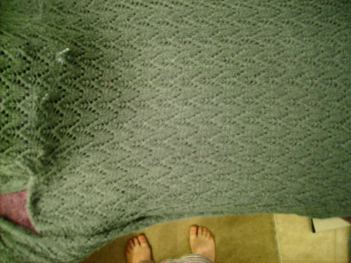 Pattern of sweater and feet
