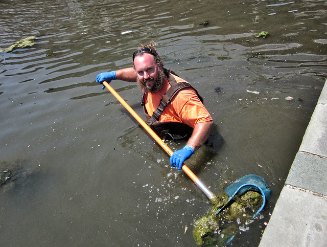 cleaning up the creek
