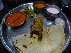 Malvani fish curry meal