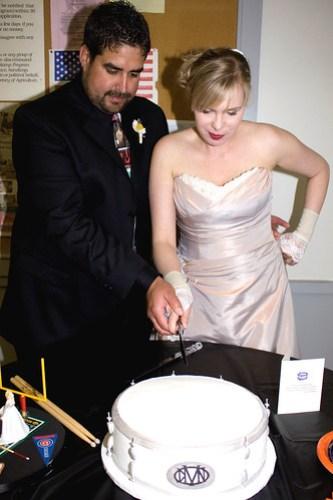 The drum cake!!