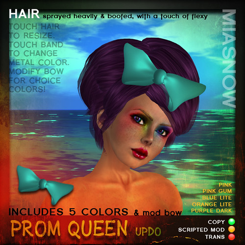 POSTER PROM QUEEN updo