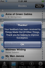 Eucalyptus.app: Send Feedback (confirmation)