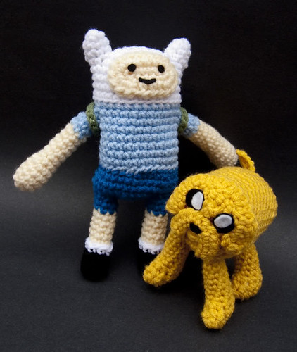 Finn & Jake, Crocheted by Fred Seibert.