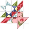 Basket Block 7 by Sandi Walton at Piecemeal Quilts