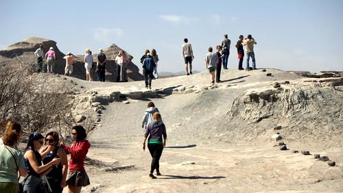 Turistas en Ischigualasto