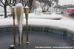 Fontante ghiacciate sul lungolago di Desenzano d/Garda