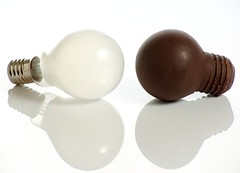 Lightbulb, in Glass and Chocolate