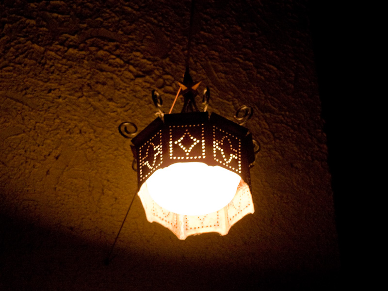 Lamp at the Bijou