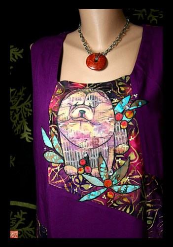 ASIAN SPLENDOR one of a kind batik chow blouse by Sandra Miller