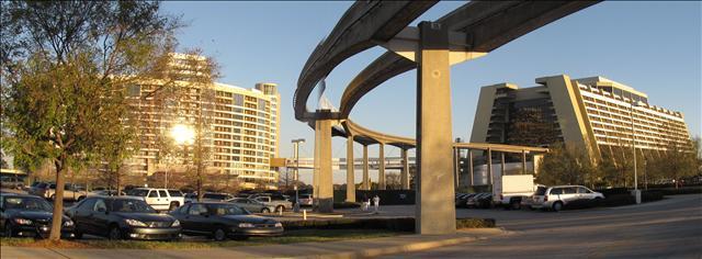 Contemporary Resort & Bay Lake Towers