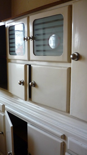 Old-style kitchen cupboards