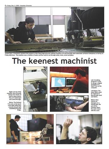 The keenest machinist