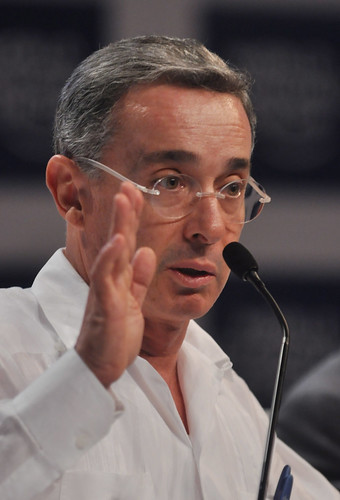 Alvaro+Uribe+Velez%2C+Luis+Guillermo+Plata+and+Mar%C3%ADa+Elvira+Pombo+-+World+Economic+Forum+on+Latin+America+2010