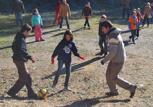 Celebració del Nadal, 19 de desembre de 2009, a Sant Medir - futbol