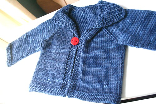 knitted: easy baby cardigan