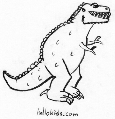 T-Rex based on hellokids.com