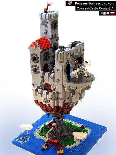LEGO rock fortress