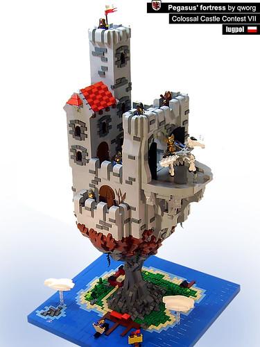 LEGO rock fortress