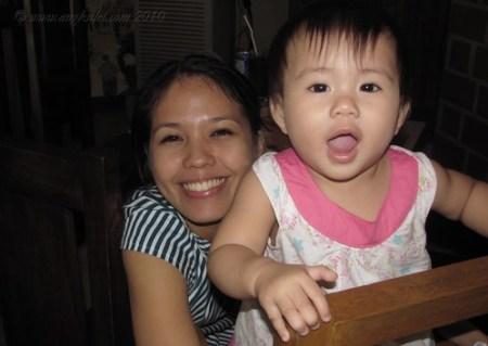 Mama and Lia at Bellini's Marikina