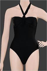 LaVieEnRose-Classic Elegance One piece bandeau top swimsuit