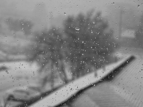 Snowmelt on Window