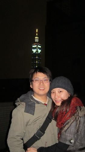 與101 Taiwan UP合照-Josh和佩萱