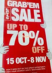Levi's Grab 'Em sale