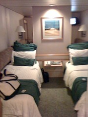 Our stateroom on the Monarch of the Seas. TINY! But for the $ it was just fine.