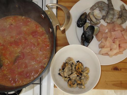 Making Seafood Soup