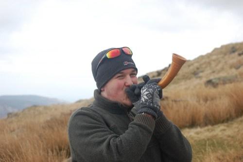 Chris has the horn