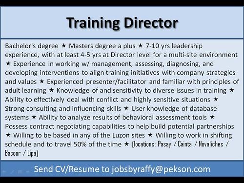 Training Director