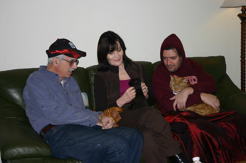Christmas 2009 - Vic, Becky and Qubit, Clint and Lemonjello