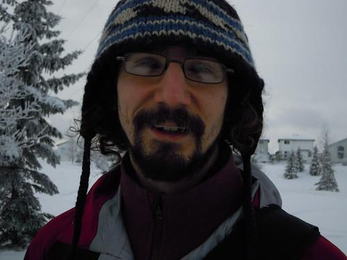 snowy mustache