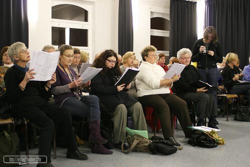 Choeur Chante Vie en répétition