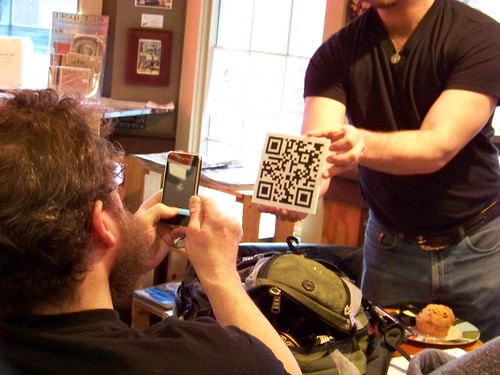 QRcodes at NH Media Makers (by mrjohnherman)