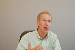 Article image: Don Reutershan discusses his job.
