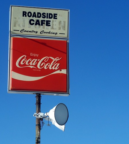 old cafe sign