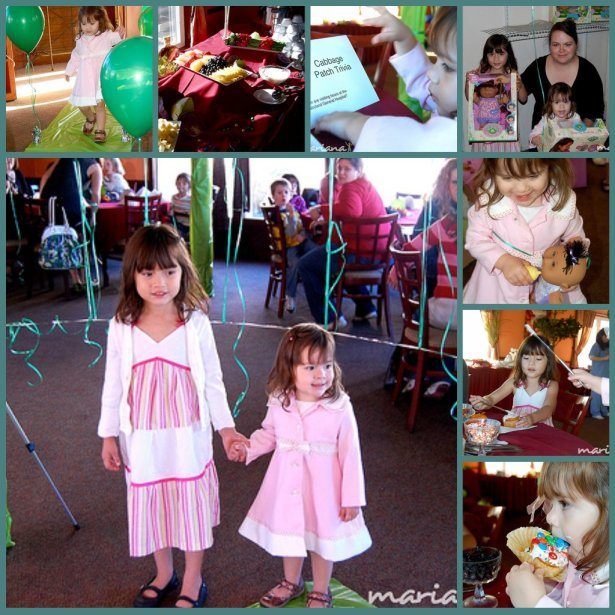 Cabbage Patch party collage