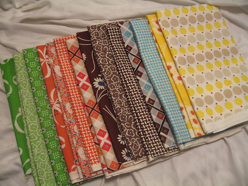 Fabrics for my next quilt