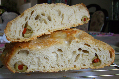 olive bread cut
