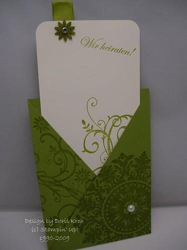 Hochzeitskarte Tasche