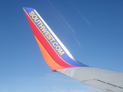 View From Onboard A Southwest Airlines Flight