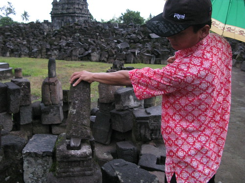Restoration of the temple complex at Plaosan remains incomplete.