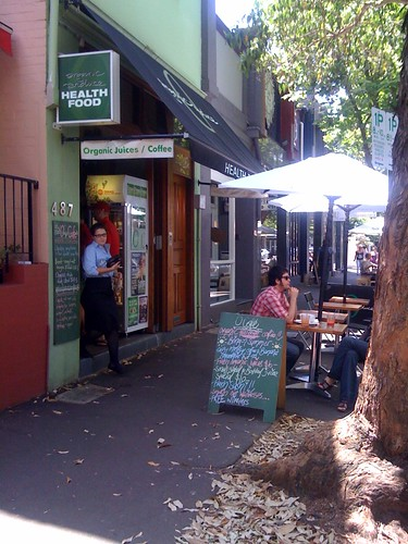 Organic produce cafe, surry hills