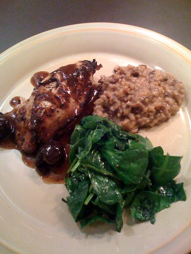 Braised Chicken & Mushroom Risotto