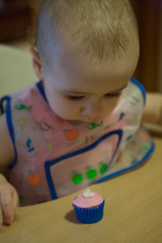Contemplating cake