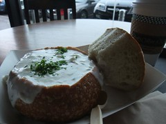 Clam Chowder Sourdough bowl (Boudin Bakery) - San Francisco 2010