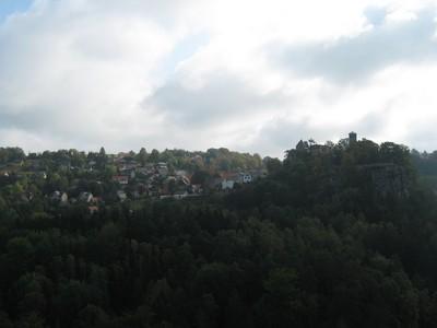 Blick auf Stadt und Burg Hohnstein