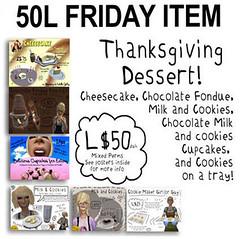 -RC- 50L FRIDAY ITEM - Thanksgiving Dessert!