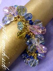 Glass Crystal Cluster Bracelet